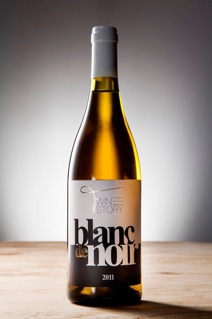 Blanc de Noir - Wine Label on Packaging of the World - Creative Package Design Gallery