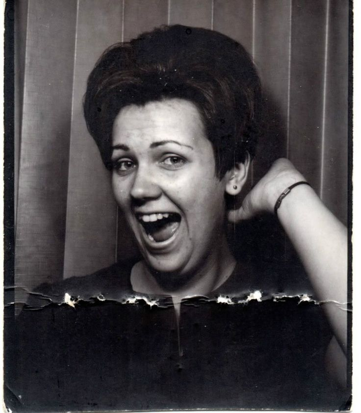 +~Vintage Photo Booth Picture~+  Brenda is always the life of the party!