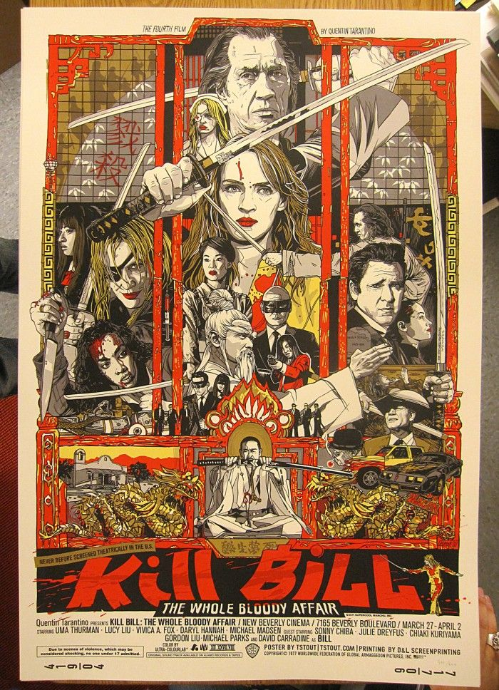 Kill Bill Hand drawn poster @Monica Forghani Forghani Dickinson