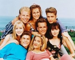 Guilty guilty guilty pleasure: Old episodes of 90210.... never really got over the 90's I guess