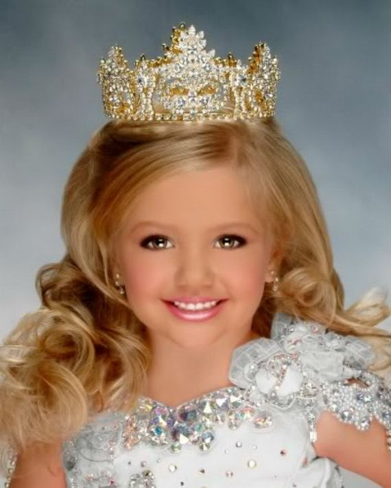 Long Pageant Hairstyles for Little Girls