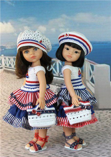 """""""Морячка"""" .Одеваем девочек Paola Reina / Одежда для кукол / Шопик. Продать купить куклу / Бэйбики. Куклы фото. Одежда для кукол"""