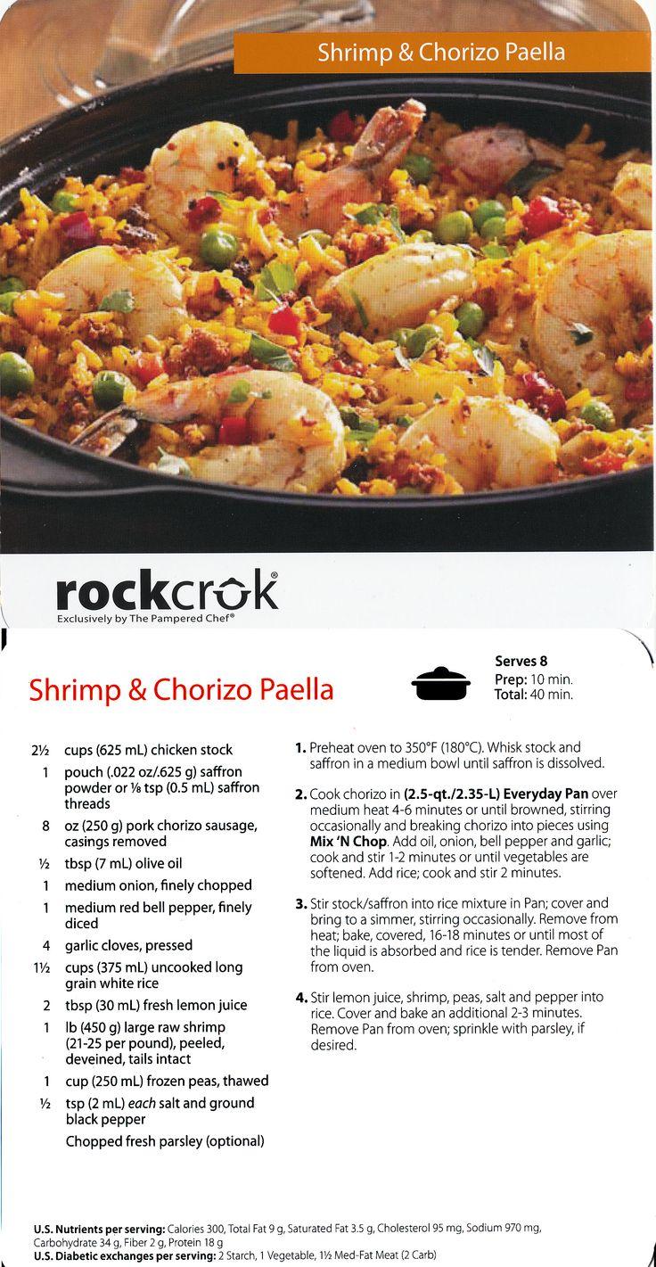 Rock Crok Shrimp & Chorizo Paella