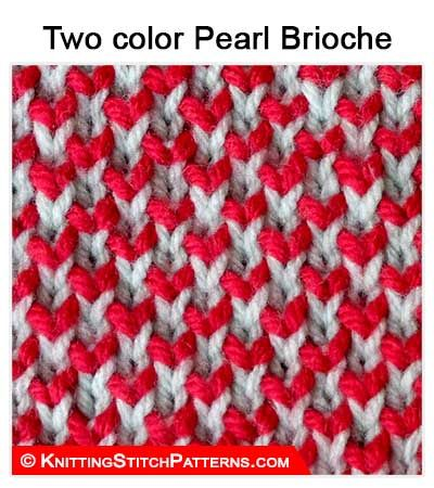 Knitting Stitch Patterns - Two-Color Pearl Brioche ❤