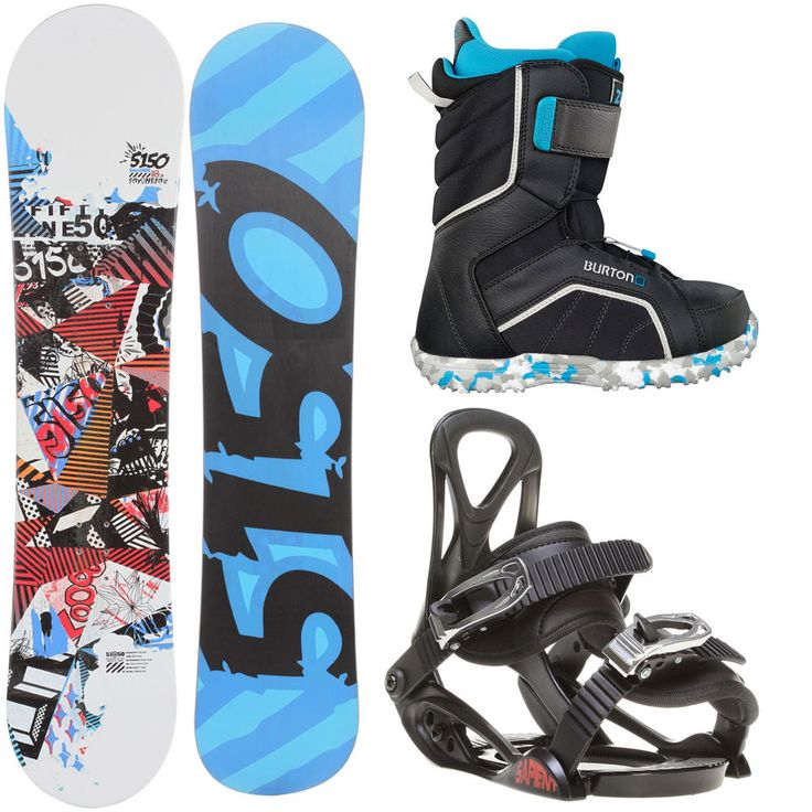 5150 Shooter 138 Youth Snowboard + Sapient Prodigy Bindings + Burton Boots #5150