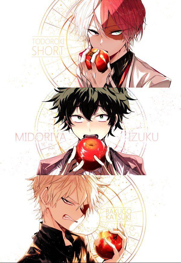 Boku no Hero Academia    Todoroki Shouto, Midoriya Izuku, Bakugou Katsuki