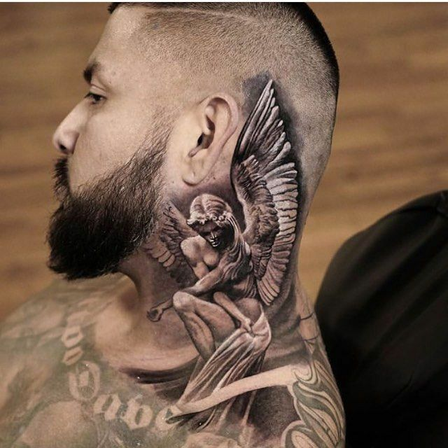 Mann tattoo hals Tattoo Am