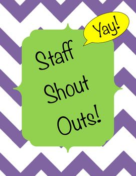 16 best Staff Shout Out Board images on Pinterest ...
