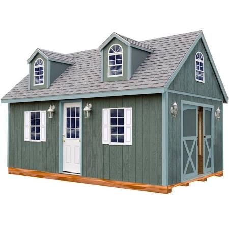 Arlington 12 ft. x 24 ft. Wood Storage Shed Kit with Floor including 4 x 4 Runners, Clear from Home Depot Sheds · 12' x 24' · Kit  Check with your local permit authority before placing your order. Premium grade 2x4 imported from Sweden, 24-in on center wall studs. SmartSide treated wood siding resists ... See more details at Home Depot » $7,275.00 +$553.25 tax. Free shipping Home Depot
