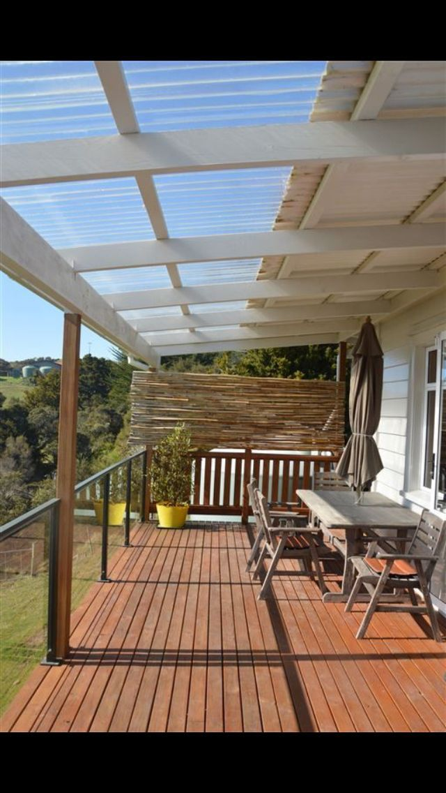 ** Find out White pergola with clear lite roof...