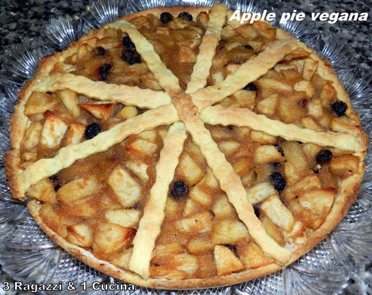 """I EAT VEG! By """"Quasicuoche.it"""" Le ricette in gara: Apple pie vegana di """"3 Ragazzi e 1 Cucina"""""""