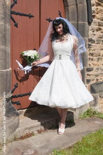 Ivory lace 50's circle dress | Wedding dresses | Our galleries | Vivien Of Holloway | BT Tradespace
