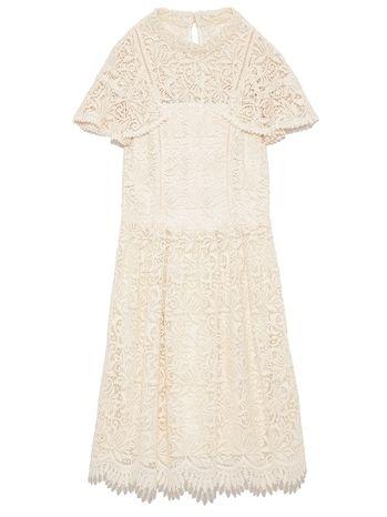 938ae724545f2 リリーブラウン(Lily Brown) 袖フリルレースワンピース OWHT ファッション›レディース›ワンピース
