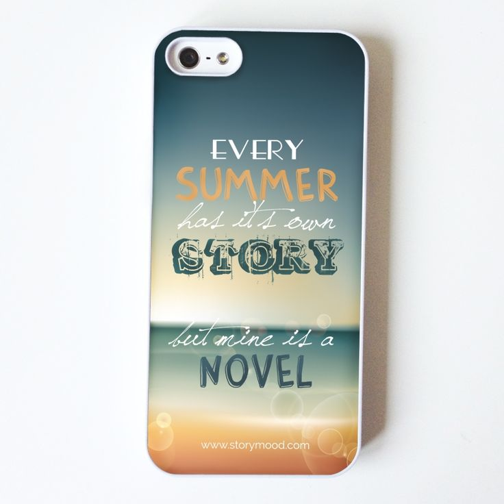 "summer story iphone case for all you summer lovers out there!  ""Every summer has it's own story  but mine is a novel""    suitable for iphone 4 and iphone 5 (choose below)   13,00 €"