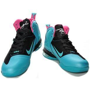 Nike Zoom LeBron 9 IX  South Beach Blue/Black/Pink
