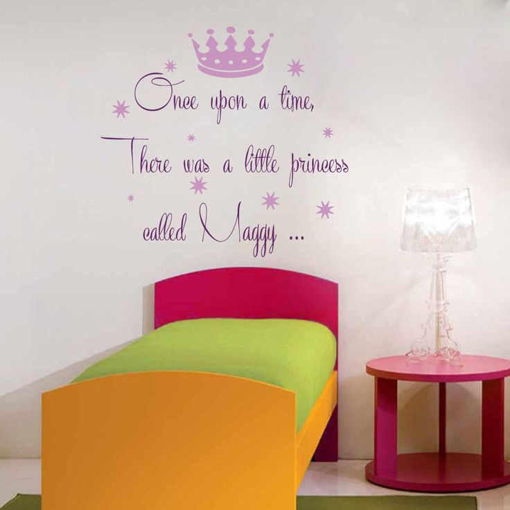 Princess Wall Decals Faity Girl Personalized Name Vinyl Sticker Kids Decor kk779