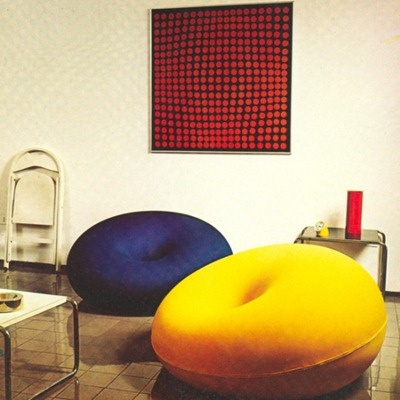 Dectecma chair by Gufram. #design Tullio Regge - 1968. Inspired by Dupin's Cyclide