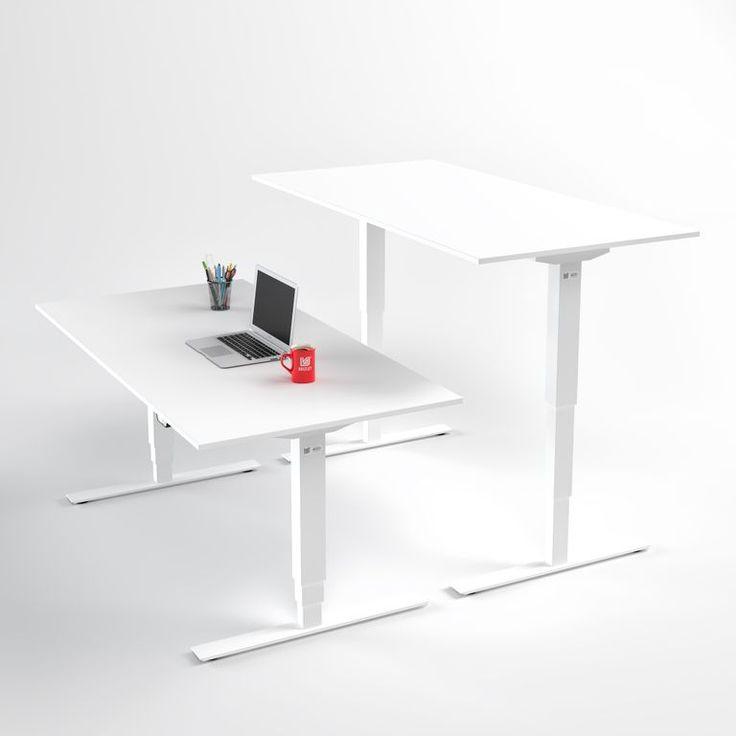 Höj-och sänkbart skrivbord Pro 3 Adjustable. Ergonomiskt och högkvalitativt elektriskt höj- och sänkbart bord med 2 motorer från Brizley.