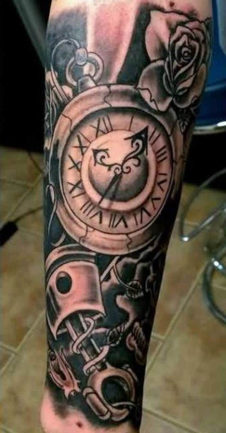 Clock Tattoo Sleeve