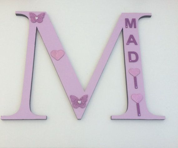 Large wooden letters  customised  girls  wall by craftycreationsnz