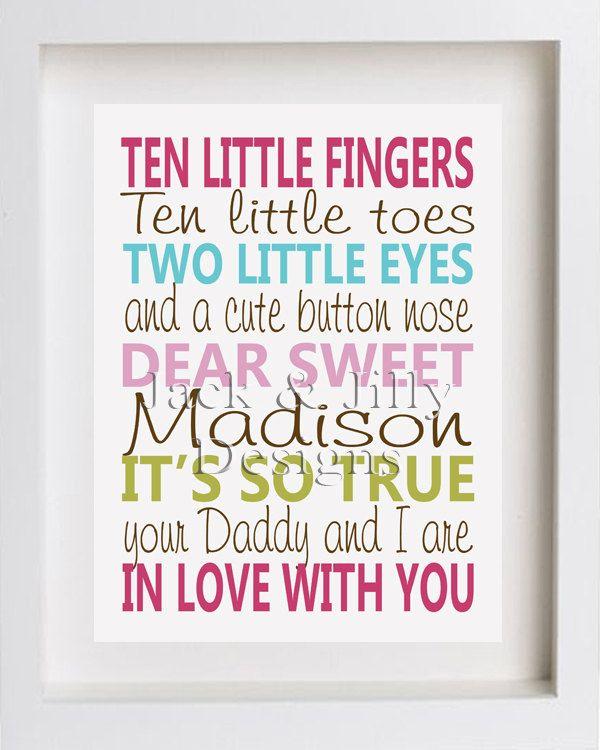 10 Little Fingers, 10 Little Toes Poem: Kids Poems, Crafts Ideas, Penelope Baby, 10 Little Fingers Poems, Fingers 10, Toe Poems, Nurseries Ideas, Baby Toe And Fingers, Baby Shower