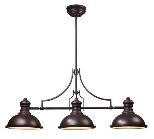 Three Light Bronze Pool Table Light | Williams Lighting Galleries