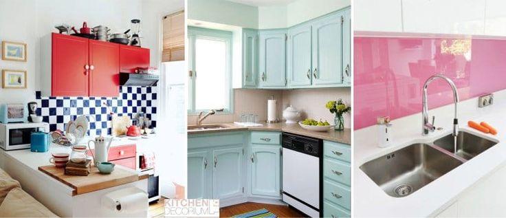 Дизайн угловой кухни - яркие цвета