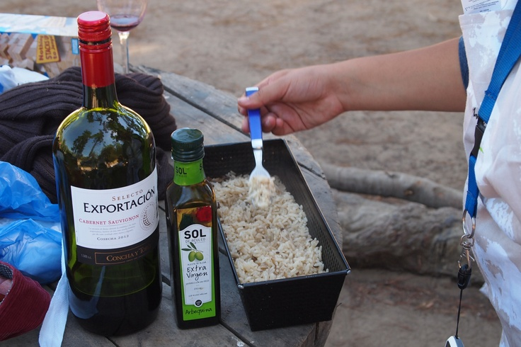 Yes, we can cook grilled rice. Chilean wine and olive oil.