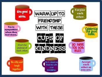 Friendship Bulletin Board Kit: Cups of Kindness $