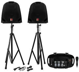 Buy Rockville GB1 Portable Powered PA System W/ MixerSpeakersStandsMic DJ Package