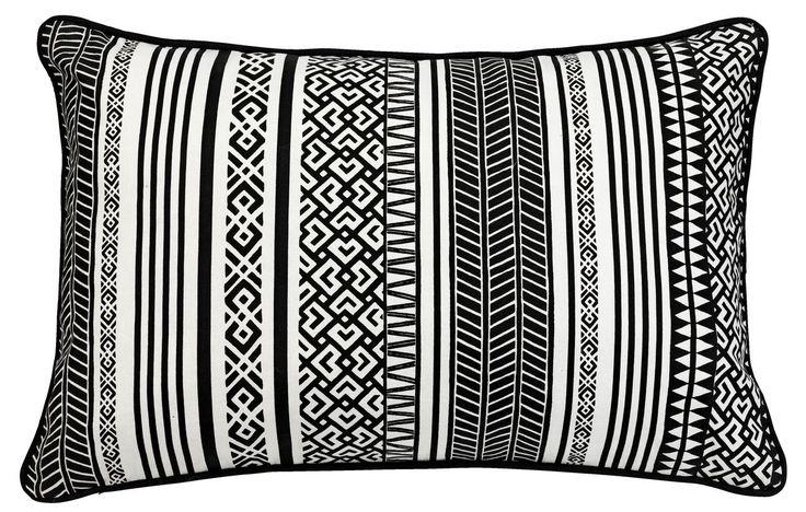 Poduszka LUNDALM 40x60 czarna/biała   JYSK