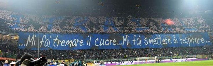 #Coreografia dei tifosi interisti in @Inter-@acmilan durante il campionato di calcio @SerieA_TIM 2012-2013