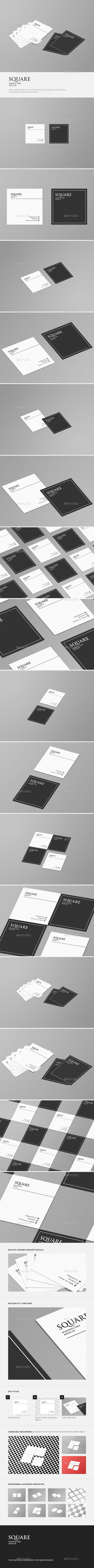 Square Business Card Mock-Up. Download here: http://graphicriver.net/item/square-business-card-mockup/16699214?ref=ksioks