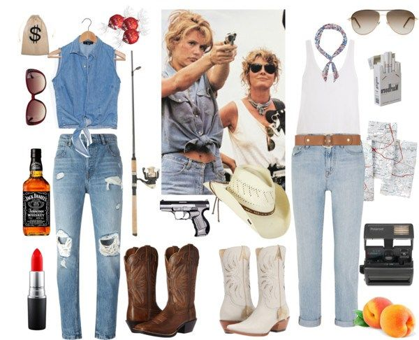 Using vintage pieces in your Halloween costume - Thelma and Louise costume inspiration