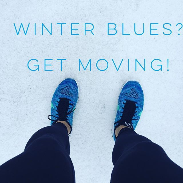 Winter have you feeling a little blue? Get moving! Exercise causes your brain to release by HER Power Lifestyle