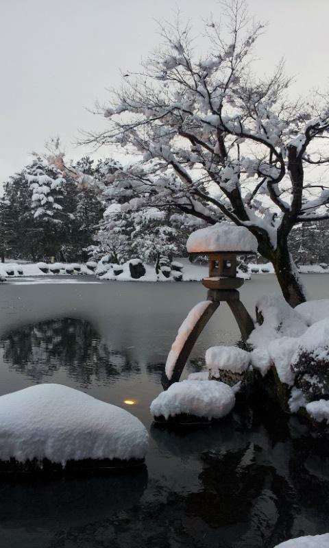 The snow in Kanazawa
