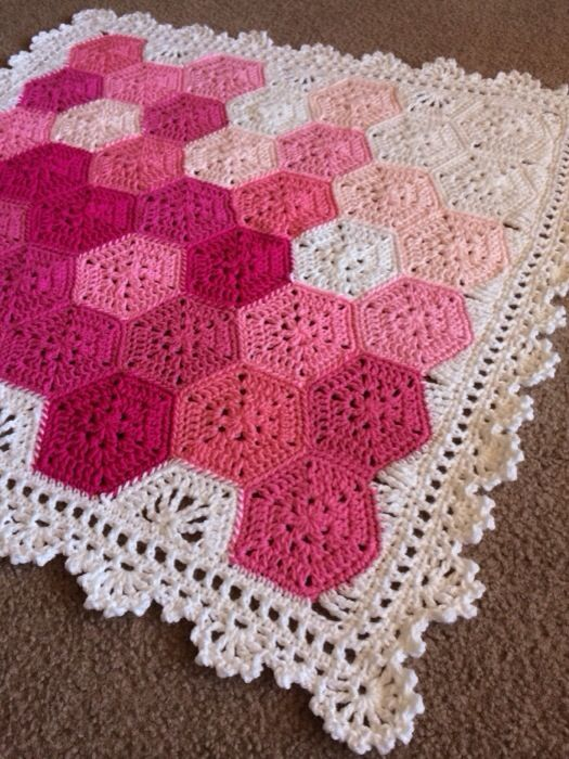 "Design Profile Location: Mexico Pattern: Geometric Lace Materials: Hobby Lobby ""I love this yarn"" and Red Heart Super Saver (I buy from knitting-warehouse.com for a softer product!) Construction: H…"