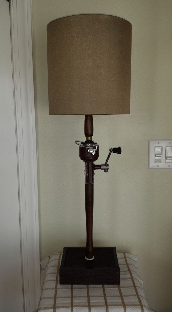 Fishing Pole Lamp Rod and Reel Lamp Antique by SaultydogCreations, $150.00