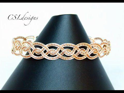 In this tutorial I show you how to make a twisted celtic wirework bracelet. Please feel free to give it a go yourself and I hope you enjoy. Xuron flush cutte...