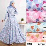 Gamis Modern Cantik 373 Crepe - Baju Muslim Umbrella