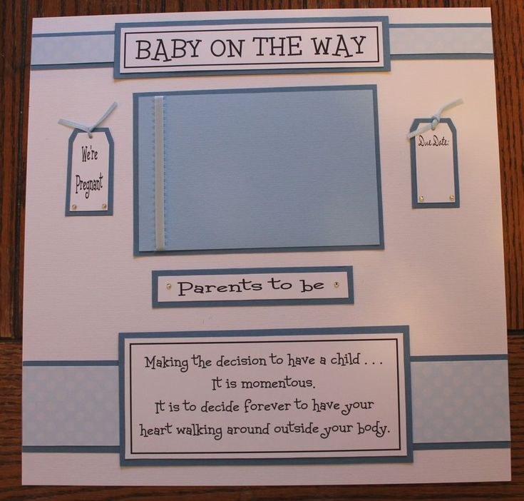 1 pre made 12 x 12 BABY ON THE WAY (PREGNANT- PREGNANCY ...