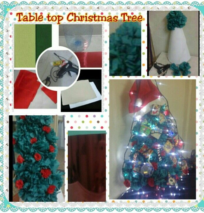 Quick tutorial tabletop Christmas tree
