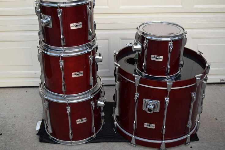 Yamaha Recording custom birch shell drum set kit excellent!-used drums for sale