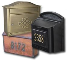 Residential Wall Mount Mailboxes for Sale by MailboxWorks..want the copper one!