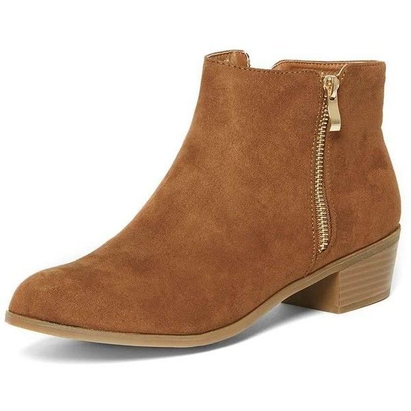 Dorothy Perkins Wide Fit 'Wrapy' Tan Ankle Boots (155.205 COP) ❤ liked on Polyvore featuring shoes, boots, ankle booties, brown, wide ankle boots, brown bootie, brown boots, wide boots and ankle bootie boots