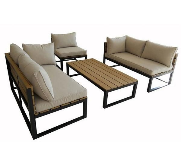 4piece modern outdoor patio furniture set with cushions