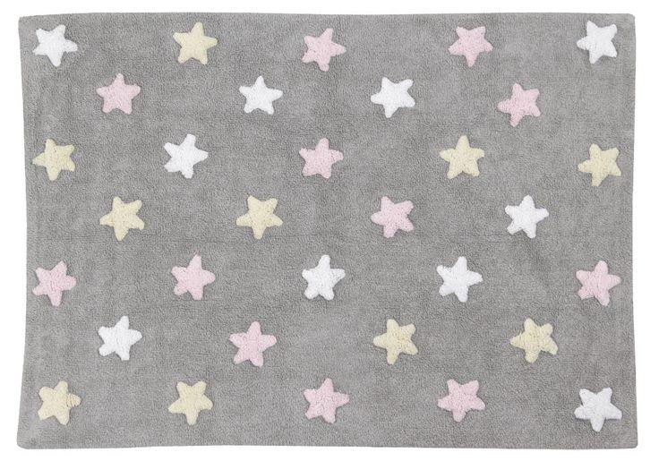 Waschbarer Teppich für das Kinderzimmer aus reiner Baumwolle Traumhafter  Kinderzimmerteppich der spanischen Firma Lorena Canals aus reiner Baumwolle. Der pflegeleichte Kinderteppich ist für...