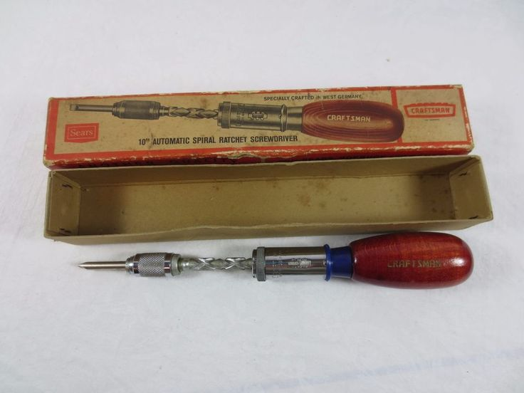 Vintage Craftsman Ratchet Screwdriver w Original Box - West German - Excellent #Craftsman