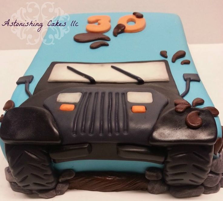 Cool idea for jeep lovers!  I want this cake for my 30th birthday