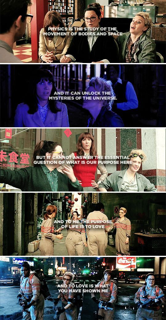 """""""I didn't think that I would ever really have a friend until I met Abby and then I feel like I have a family…"""" #ghostbusters"""